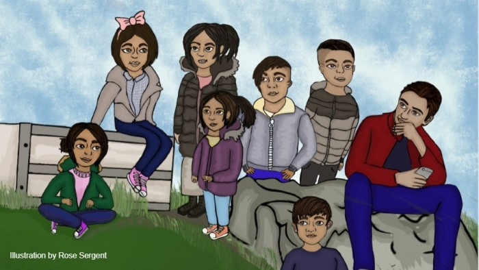 Roma young people illustration by Rose Sergent (1)