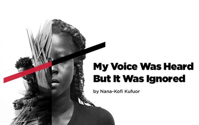Promotional image for My Voice Was Heard But It Was Ignored