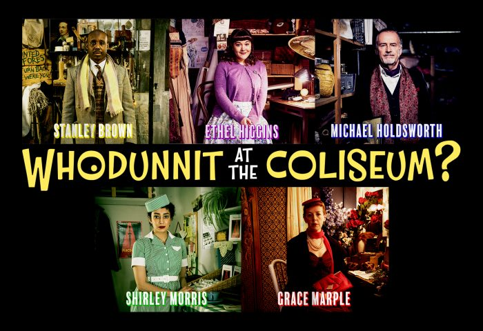 The cast of Whodunnit at the Coliseum?